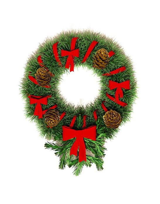 Vinylová Tapeta Kulatý věnec vánoční ozdoby na dveře. - Soukromé budovy