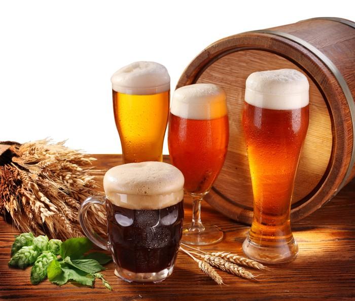 Vinylová Tapeta Zátiší s soudkem piva - Alkohol