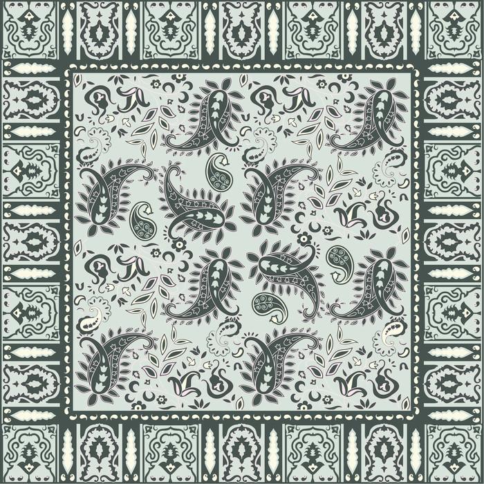 papier peint bandana conception motif paisley traditionnel pixers nous vivons pour changer. Black Bedroom Furniture Sets. Home Design Ideas