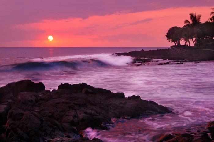 Vinylová Tapeta Zasněný Havajská Sunset - Ostrovy