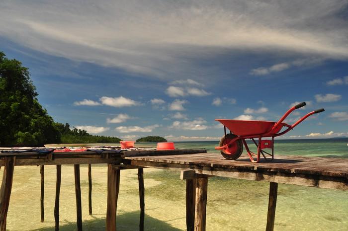 Vinylová Tapeta Waigeo pláž - Prázdniny