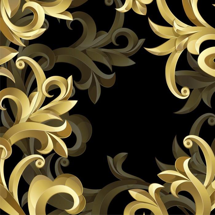 papier peint fond noir et or pixers nous vivons pour changer. Black Bedroom Furniture Sets. Home Design Ideas