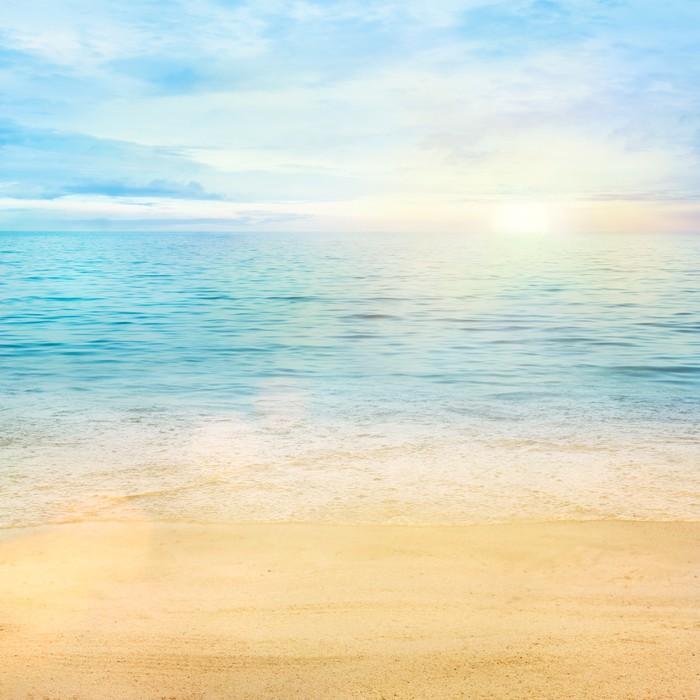 Carta da Parati in Vinile Mare e sabbia sfondo - Stili