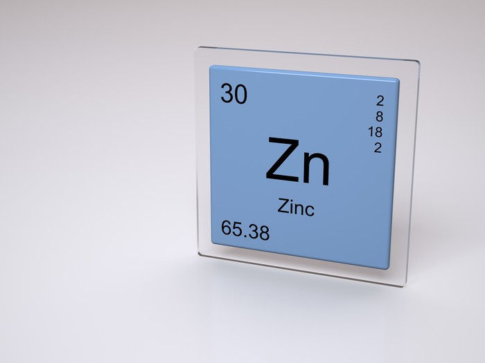 zinc symbol zn chemical element of the periodic table wall mural pixers we live to change. Black Bedroom Furniture Sets. Home Design Ideas