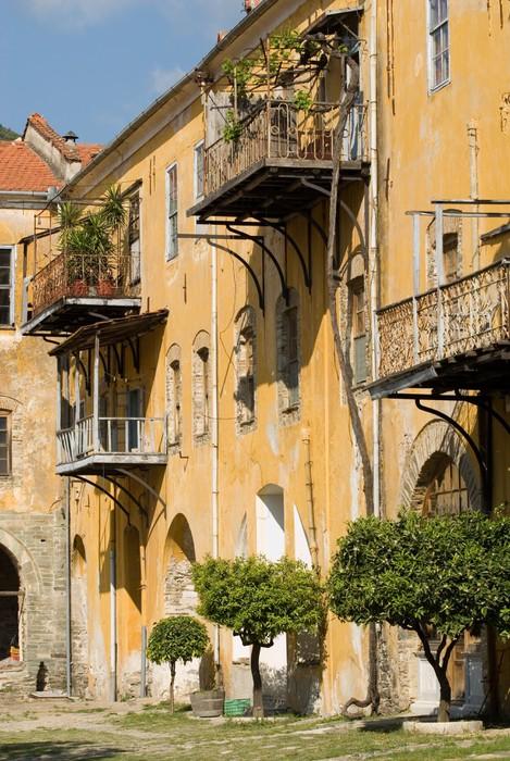 Vinylová Tapeta Vnitřní pohled, Iviron klášter, hora Athos, Chalkidiki, Řecko - Evropa