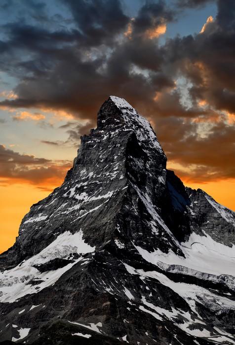 Vinylová Tapeta Východ slunce na Matterhorn - Evropa