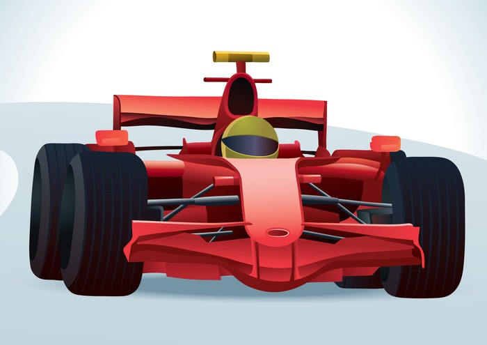 Red F1 Racing Car Wall Mural Pixers We live to change