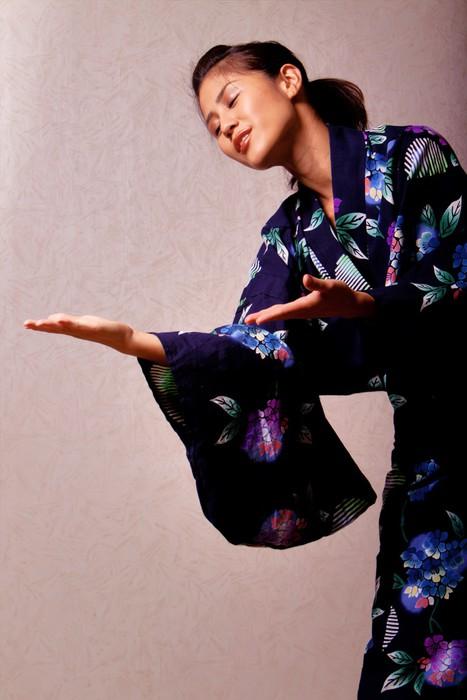 Beautiful japanese woman wearing kimono