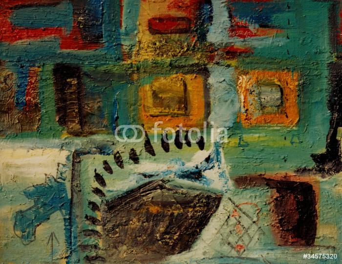 Papier peint peinture l 39 huile abstraite pixers nous - Papier pour peinture huile ...