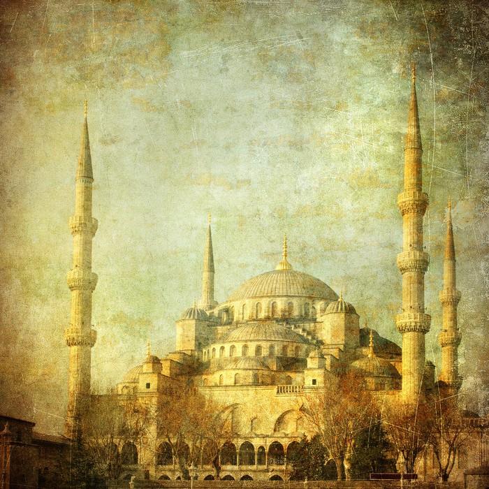 Nálepka Pixerstick Vintage image of Blue Mosque, Istanbul - Styly