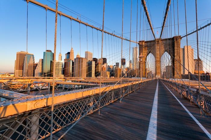 Carta da parati pont de brooklyn new york pixers for Carta da parati new york ebay