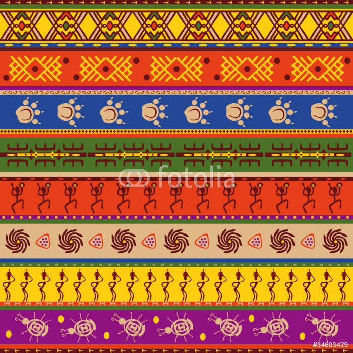 Vinylová Tapeta Africké vzor - Afrika