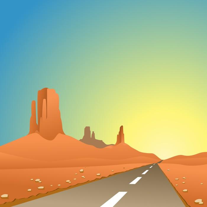 Papel pintado un paisaje del desierto con road la - Papeles pintados paisajes ...