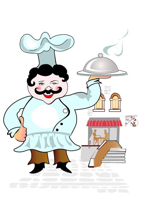 Adesivo Carino capo cuoco • Pixers® - Viviamo per il cambiamento 4e21a60f9f20