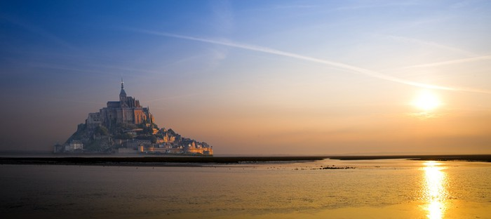 Nálepka Pixerstick Mont Saint Michel - Prázdniny