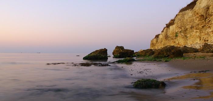 Nálepka Pixerstick Pláž brzy ráno - Prázdniny