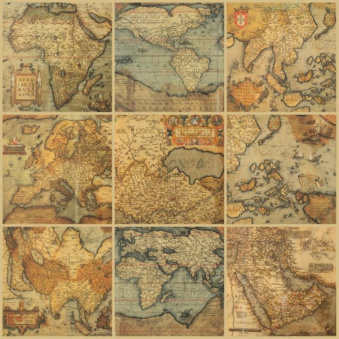 Vinilo Pixerstick Collage con mapas antiguos • Pixers® - Vivimos ...
