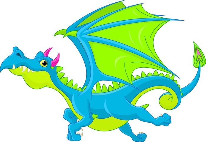 Vinylová Tapeta Cartoon létající drak - Nálepka na stěny