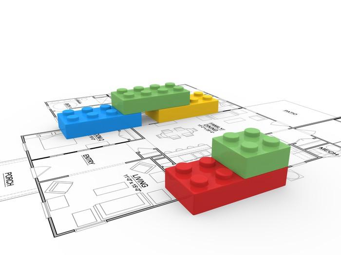 papier peint blocs lego pixers nous vivons pour changer. Black Bedroom Furniture Sets. Home Design Ideas