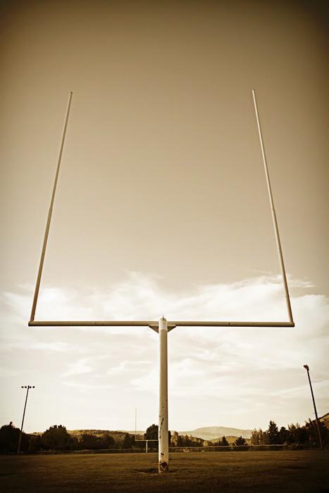 Vinylová Tapeta Football Field Goal Příspěvky ročník - Individuální sporty