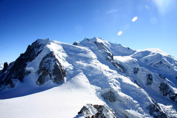 Vinylová Tapeta Mont Blanc - Zimní sporty