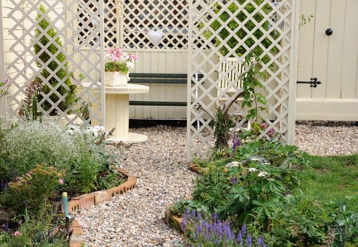 Papier peint romantique jardin anglais pixers nous for Jardin romantique anglais
