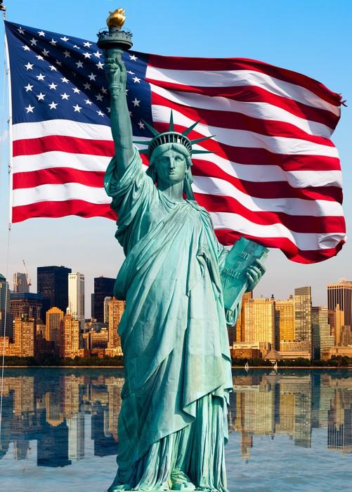 New York Skyline Statue De La Libert 233 Wall Mural Pixers