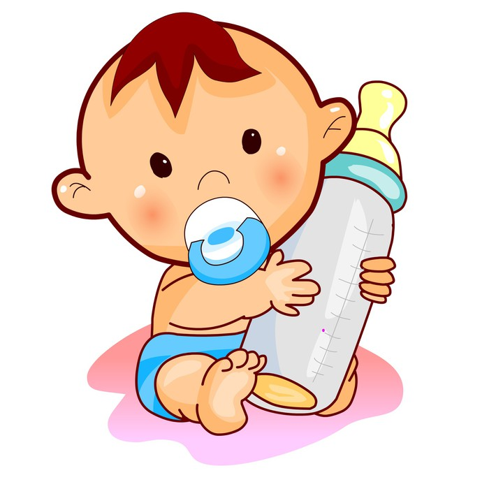 Lovely Baby With Milk Vector 34885406 on Home Gym Colors