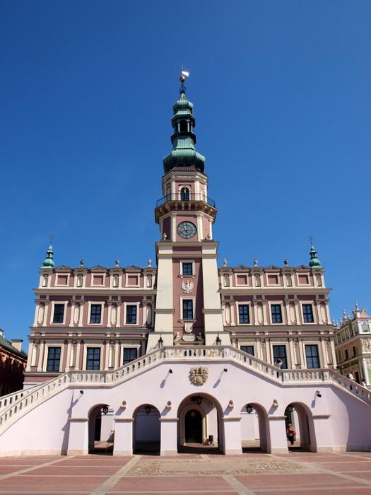 Vinylová Tapeta Rathaus v Zamosc - Polen - Evropa