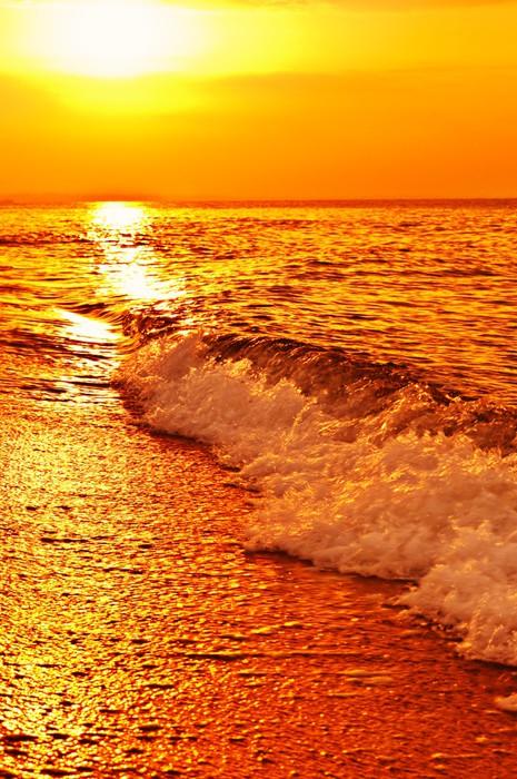 Vinylová Tapeta Západ slunce na moři - Voda
