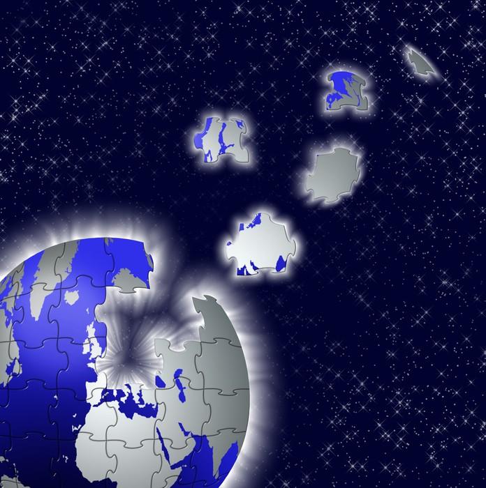 Vinylová Tapeta Terre - Meziplanetární prostor