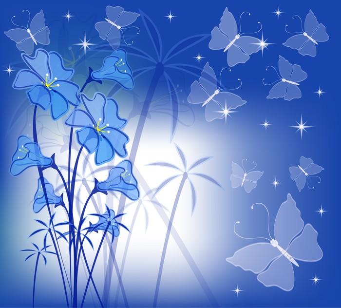 papier peint motif floral avec des papillons de nuit pixers nous vivons pour changer. Black Bedroom Furniture Sets. Home Design Ideas