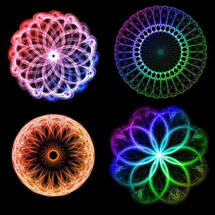 tableau sur toile fleurs fractales pixers nous vivons pour changer. Black Bedroom Furniture Sets. Home Design Ideas