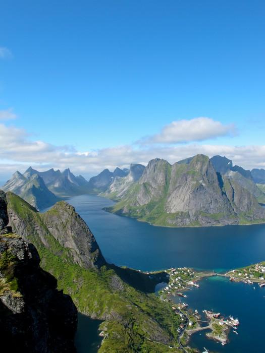 Vinylová Tapeta Malebná krajina v Norsku ostrovy - Témata