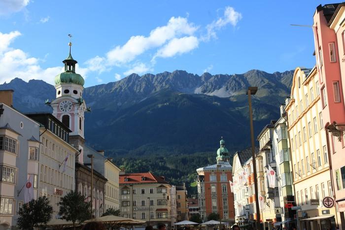 Vinylová Tapeta Innsbruck Zentrum - Evropa