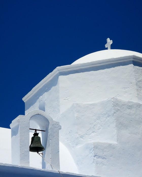 Vinylová Tapeta Kostel kupole a zvonice v řeckém ostrově - Evropa