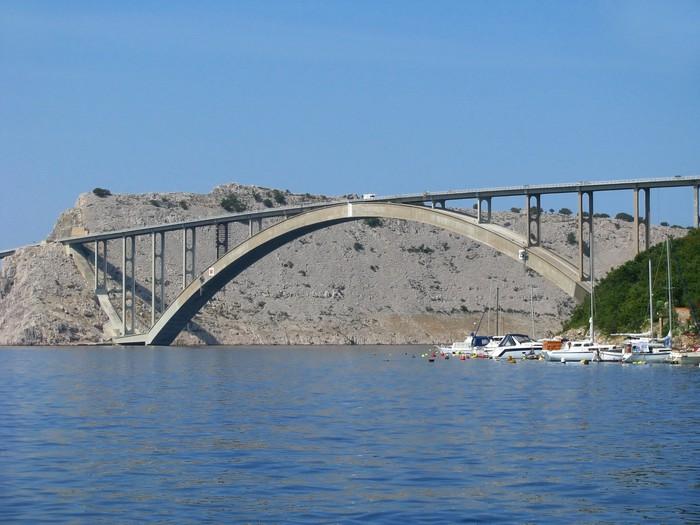 Vinylová Tapeta Most na ostrov Krk v Chorvatsku - Jadran - Evropa