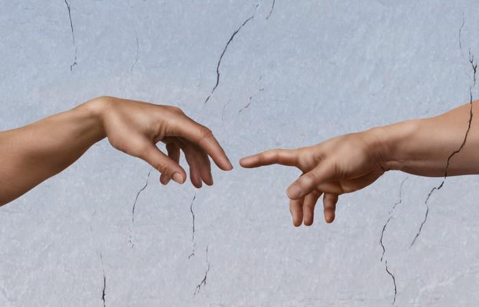 Vinylová Tapeta Michelangelo: Stvoření Adama - iStaging