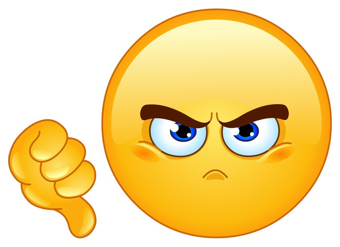 Papel Pintado Estándar No le gusta emoticono - Otras emociones