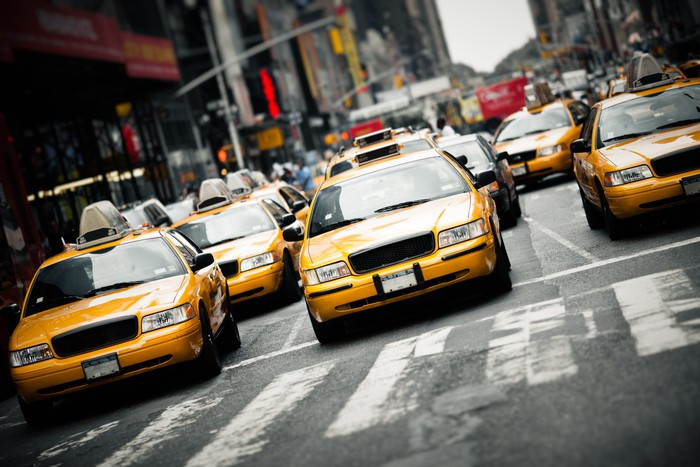 New York taxis Wall Mural Pixers We live to change