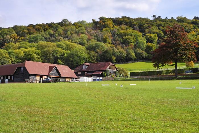 Vinylová Tapeta Anglické venkovské krajiny v časném podzimu - Zemědělství