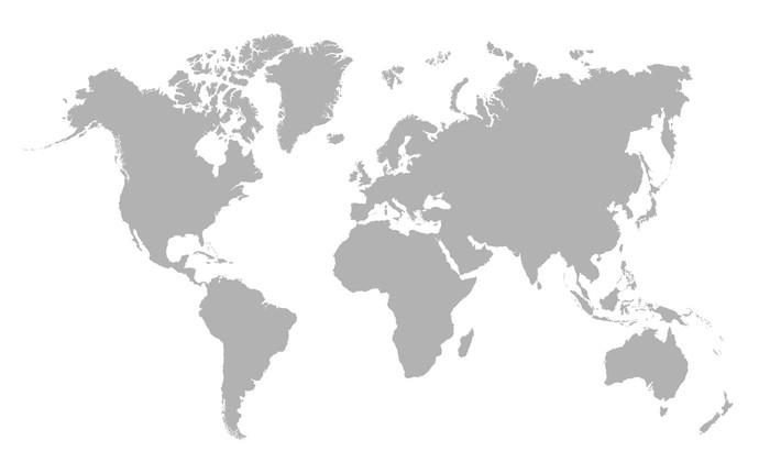 Vector illustration of blank world map sticker pixerstick vector illustration of blank world map sticker pixerstick wall decals gumiabroncs Images