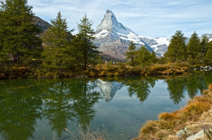 Vinylová Tapeta Zermatt-Grindjisee jezero Cervino - Prázdniny