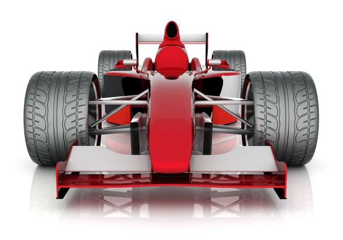 Vinylová fototapeta Obrázek červené sportovní automobil na bílém pozadí - Vinylová fototapeta
