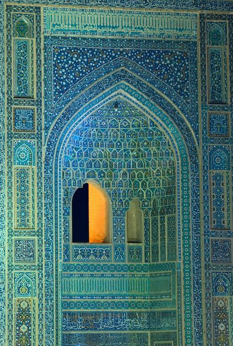 fototapete gekachelten hintergrund orientalische ornamente moschee von isfahan iran pixers. Black Bedroom Furniture Sets. Home Design Ideas