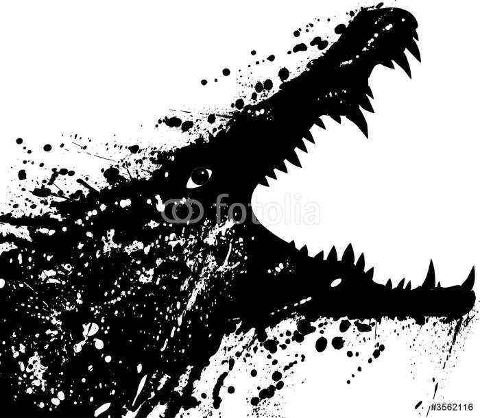 Plakát Krokodýl - Imaginární zvířata