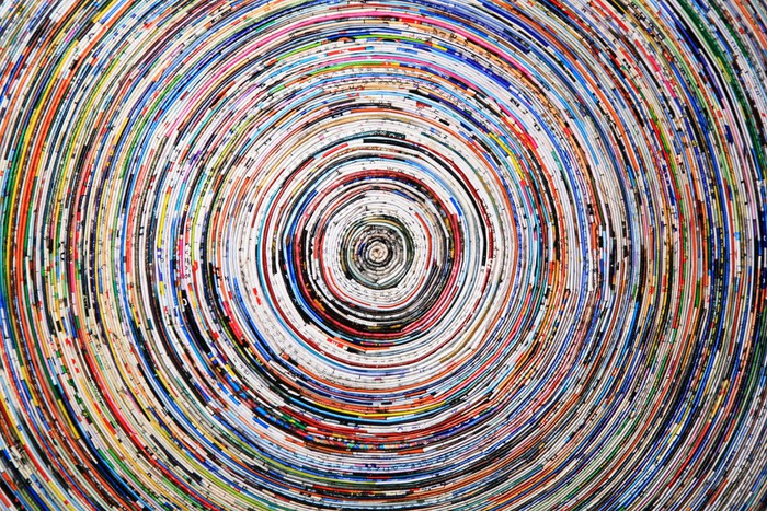 Carta da parati sfondo di una spirale colorata di carta for Carta da parati colorata
