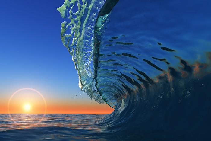 Vinylová Tapeta Vlny na moři - Voda