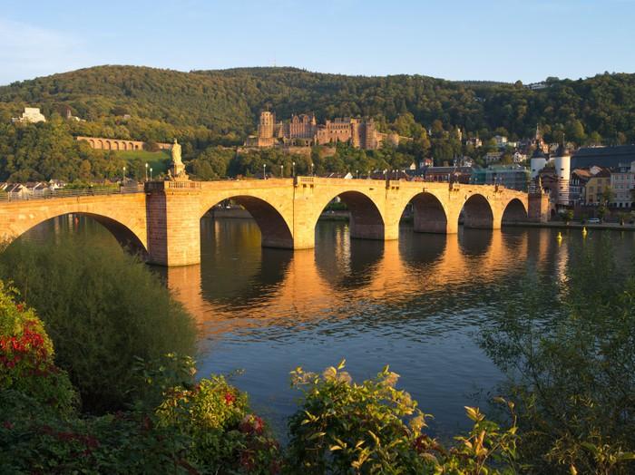 Plakát Alte Brücke im Herbst - Evropa