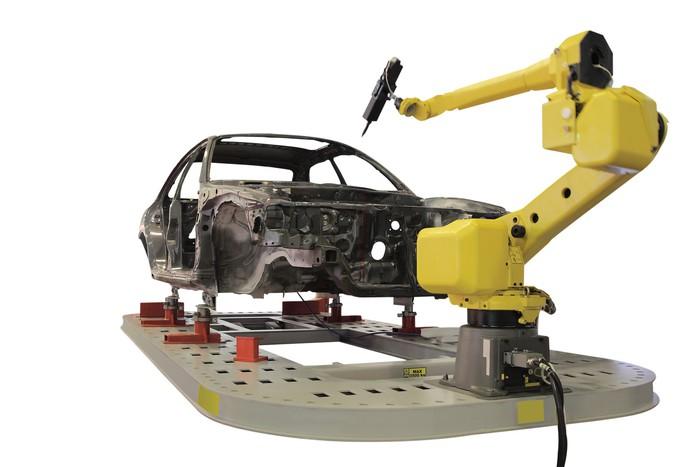 Vinylová Tapeta Svařovací robot - Těžký průmysl